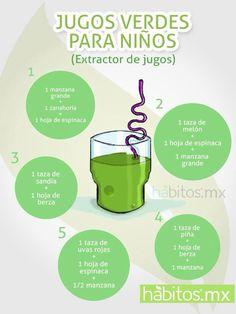 jugos verdes para niños