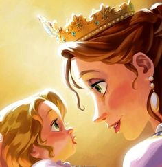 Rapunzel and her mother