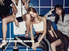 In this picture: Anna Ewers, Issa Lish, Lexi Boling Credits for this picture: Alexander Wang (Designer) , Steven Klein (Photographer) , Pascal Dangin (Creative Director) , Karl Templer (Fashion Editor/Stylist) , Anthony Turner (Hair Stylist) , Jimmy Paul (Hair Stylist) , Polly Osmond (Makeup Artist) , Gina Edwards (Manicurist)