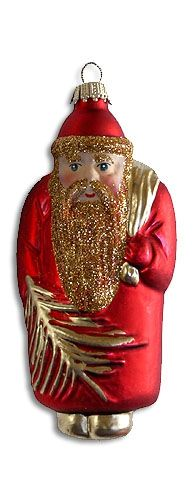 Traditional Santa blown glass ornament from Germany