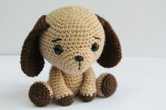 I just loved making this little puppy! I did make some different colour changes to make matching gifts but the pattern is so versatile they all turned out perfectly. PATTERN : Dog Puppy Amigurumi dog pattern Crochet by Anatillea Crochet Patterns Amigurumi, Amigurumi Doll, Crochet Toys, Monkey Pattern, Dog Pattern, Easy Crochet Patterns, Knitting Patterns, Knitted Stuffed Animals, Crochet Mignon