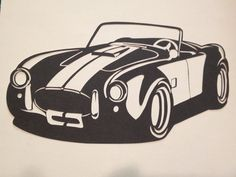Check out the awesome Shelby Cobra papercut! Perfect for Christmas for the car lover we all know!
