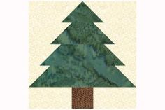 """Sew a forest that's filled with trees made from this beginner friendly 10"""" Christmas Tree quilt block pattern. Vary your trees or make them identical.: How to Sew 10"""" Christmas Tree Quilt Blocks"""