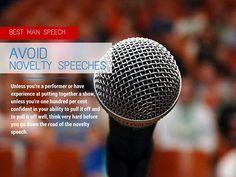 Adelaide Wedding Speeches: Five Tips for a Great Best Man Speech—No.2: Avoid Novelty Speeches! www.weddingspeechesadelaide.com.au