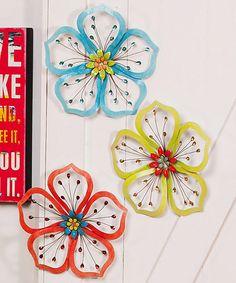 Loving this Flower Wall Art Set on #zulily! #zulilyfinds