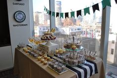 Navy sweet table