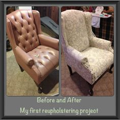 Tips for reupholstering a wing back chair. Hoping I get to do with a garage sale find!