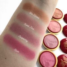 Besame Cosmetics Delicate Rouge Swatches