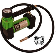 A basic air compressor, ideally can be powered either from the car lighter or an outlet