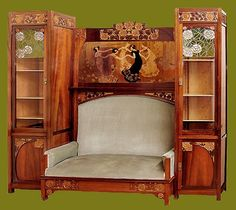 Модерн,Испания.Мебель и зеркала. Schow-case by Aleix Clapés and Gaudi - Casa Ibarz Juan Busquets,Gaspar Homar,Aleix Clapés and Gaudi Art Nouveau furniture and mirrors. =================Juan Busquets================= ---------------------------------------- -------…