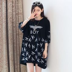 2015 NEW Fashion Kpop bigbang GD g-dragon BOY Letter Black T-Shirt Unisex Tops #UnbrandedGeneric #BasicTee