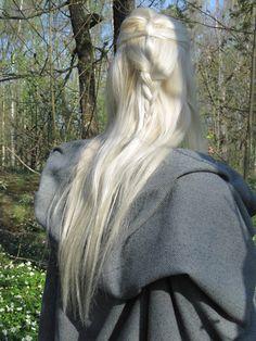 elven hair   Elf hair detail by lethal-kitteh