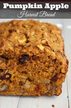 Delicious make-ahead healthy Pumpkin Apple Harvest Bread recipe. 237 calories and 6 weight watchers points plus Delicious make-ahead healthy Pumpkin Apple Harvest Bread Recipe. 237 calories and 6 weight watchers points plus. Harvest Bread, Apple Harvest, Apple Recipes, Fall Recipes, Bread Recipes, Snack Recipes, Baking Recipes, Apple Bread, Think Food