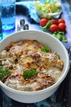 Gombás-sajtos csirkemell recept