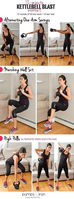 12-Minute Kettlebell Blast Workout by nadia
