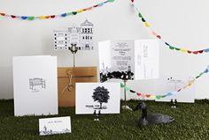 pom poms   wedding stationery