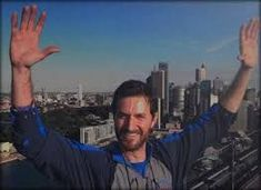 Image result for richard armitage nyc taxi cab photoshoot - Yes, but this is RA atop the Sydney Harbour Bridge during the climb.