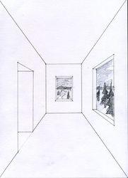 Ett rum i enpunktsperspektiv - Lillholmsskolans Bildakademi
