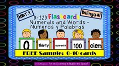 FREE SAMPLE - These number flashcards are incredibly useful in so many ways. This FREEBIE packet includes all numbers from 0-10 in numeral form and in word form (English and Spanish versions included).The complete packet is common core aligned from 0-120, colorful, easy to read, and so much fun to use in your classroom.