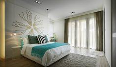 Dormitorios en marrón y turquesa - Dormitorios colores y estilos