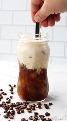 Not sure how to do coffee now that you can't have sweetener? This is the perfect recipe to make a Whole 30 latte with Whole 30 approved coconut milk creamer. Paleo Coffee, Cold Brew Coffee Recipe, Making Cold Brew Coffee, Keto Coffee Recipe, Coffee Drink Recipes, Latte Recipe, Coffee Drinks, Whole 30 Coffee, But First Coffee