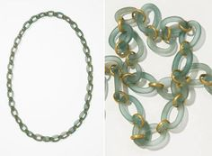 glass necklaces by christa lühtje (lives and works in stockdorf, germany)