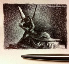 Cupid and Psyche, 2013 Ballpoint on paper SOLD Ballpoint Pen Drawing, Small Drawings, Cupid, Paper, Art, Art Background, Pen Drawings, Kunst, Performing Arts