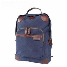 13f2a3cac7dd Utility blue canvas laptop tote backpack unisex by notliebags