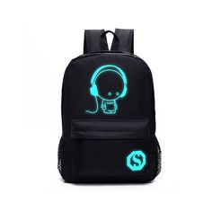 Huluwa Backpack Luminous School Bag, Unisex Travel Double Shoulder Bag, Noctilucent Light Weight -- Check this awesome product by going to the link at the image.