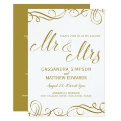 Elegant All in One Wedding Invitations   Gold - wedding invitations cards custom invitation card design marriage party