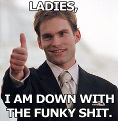 "Stifler is one hell of a funny guy. He was always getting the gang in American Pie in trouble, but you've got to love him. Let's remember his best lines, because it's a good primer to seeing ""American Reunion,"" now playing. Seann William Scott, Funny Pix, Funny Pictures, Funny Stuff, Funny Things, Hilarious Memes, Random Stuff, Funny Work, Freaking Hilarious"