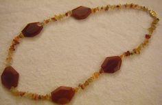 collana lunga con pietre dure ,,corniola,,, by crys_e_cri, 35,00 € su misshobby.com