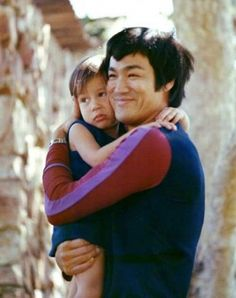 Bruce and Brandon Lee. Aww!