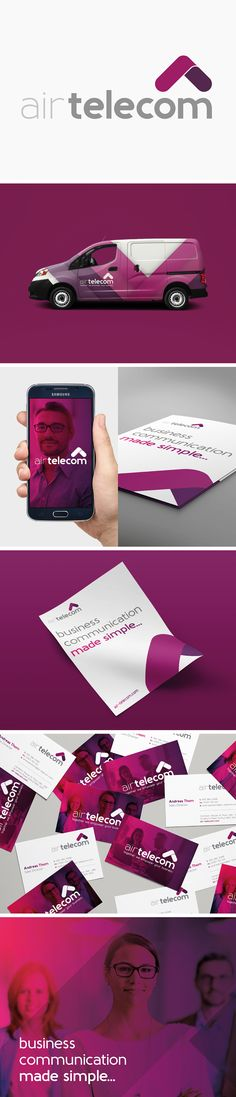 Air Telecom Brand Update which included: - Logo & Branding - Printed Literature - Photography - Website - Social Media Graphics Photography Website, Social Media Graphics, Logo Branding, Identity, Literature, Printed, Creative, Projects, Visual Identity