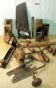 Online veilinghuis Catawiki: Groot kavel oud handgereedschap houtbewerking
