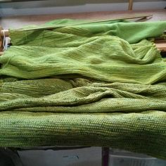 Finished the green weaving, waiting for the prefelt for the backing before…