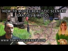 How-to Make Realistic Model Railroad Scenery - Grasses and weeds! (+play...