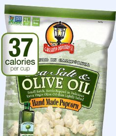 Gaslamp Sea Salt And Olive Oil Flavored Popcorn