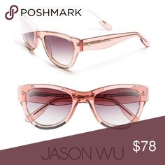 NWOT Jason Wu Petal sunglasses 😎 These are so cute! Brand new, never worn. They are a clear peachy pink with silver on the bottom of the frames. The numbers on the arm are 51  22-135 petal Jason Wu Accessories Sunglasses