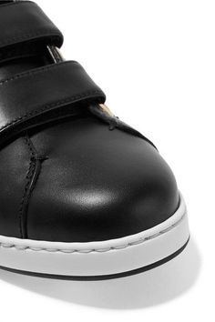 Jimmy Choo - Ny Studded Leather Sneakers - Black - IT37.5