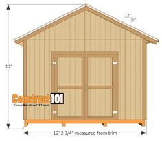 Plans to Build a shed on a weekend - shed plans - side view Build a Shed on a Weekend - Our plans include complete step-by-step details. If you are a first time builder trying to figure out how to build a shed, you are in the right place! Shed Plans 12x16, Free Shed Plans, Deck Building Plans, Building A Shed, Building A Storage Shed, Backyard Sheds, Outdoor Sheds, Garden Sheds, Garden Tools