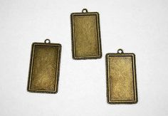 one pewter  tray Blank Bronze Rectangle32x58mm by sedonastonesllc, $0.55