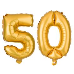 50th Birthday or Anniversary Party Balloons Numbers 5-0 MAKE YOUR PHOTOS STAND OUT: Whether you use these as props in your birthday or anniversary photos or as part of your backdrop or decorations, th