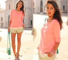 Coral n' Mint (by Annabelle Fleur) http://lookbook.nu/look/3613293-Coral-n-Mint