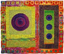 Michele Hardy Circles Gallery. Art Quilts, Fiber Art, Mixed Media