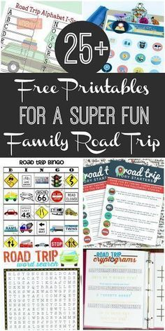 Free Road Trip Printables for a Truly Fun Family Car Trip Family Road Trip Survival Guide: Free Printables to make the long drive more fun. Games, activities, ideas for the whole family to enjoy in the car! Road Trip With Kids, Family Road Trips, Family Travel, Family Getaways, Road Trip Bingo, Road Trip Games, Road Trip Tips, Road Trip Food, Paphos