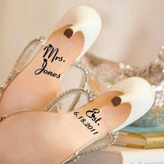 Wedding shoe decals