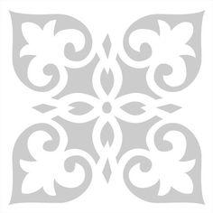 Estos stencils podrán transformar el aseo o el suelo de tu casa. También lo puedes aplicar sobre paredes utilizando el tamaño adecuado. Te aseguro...