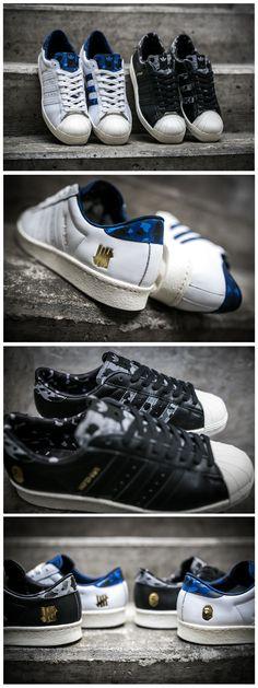 in stock 64d7e bc78f BAPE x UNDFTD x adidas Consortium Superstar 80s