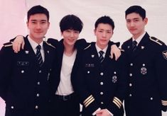 Super Junior's Yesung shared a photo of himself with fellow bandmates Choi Siwon and Donghae, as well as TVXQ's Changmin, on his personal Instagram account